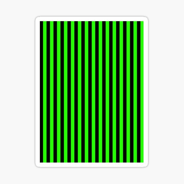 Green Stripes Black Stripes Sticker