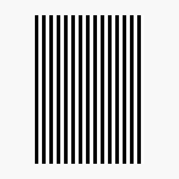 Black and White Stripes Photographic Print
