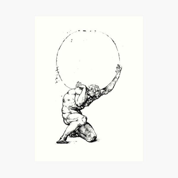 Crouching Figure of Atlas by Baldassare Tommaso Peruzzi Art Print