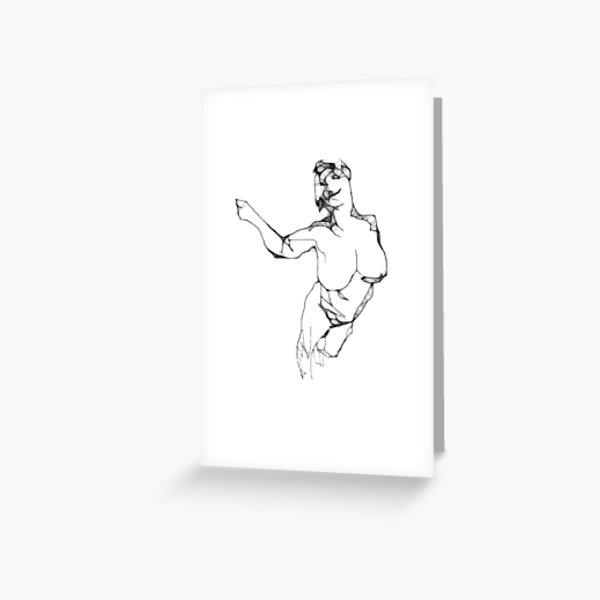 Scribbler Exp 1 Greeting Card