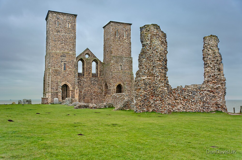 Ruins of Reculver Church, Herne Bay, Kent, UK. by DonDavisUK