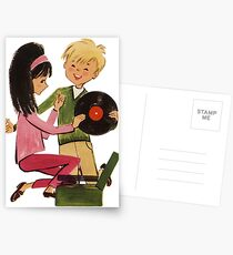 Kids Vinyl Record Love Postcards