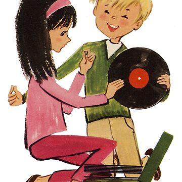Amor de discos de vinilo para niños de astropop