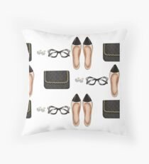 """parisian Girl"" Throw Pillow"