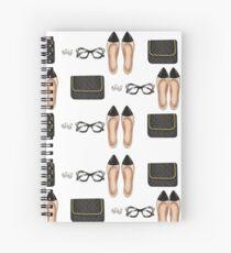 """""""parisian Girl"""" Spiral Notebook"""