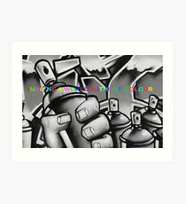 Imagine a world without colour Art Print
