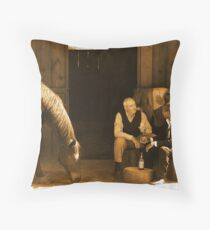 To share a glass  Throw Pillow