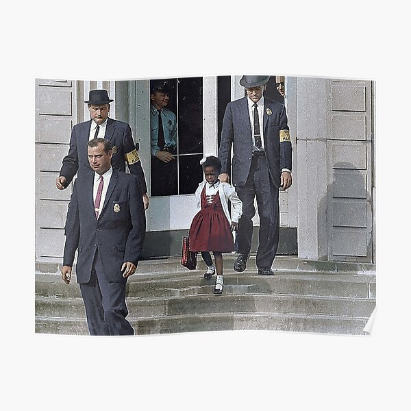 Ruby Bridges, escorted by U.S. Poster