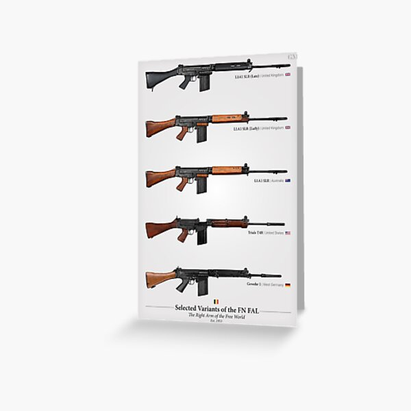 FN FAL - Right Arm of the Free World (1) Greeting Card