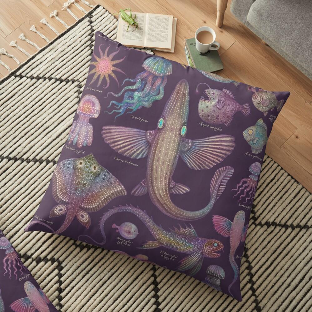 Sea life specimens III Floor Pillow