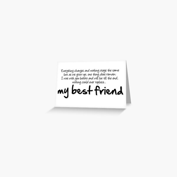 My best friend Greeting Card