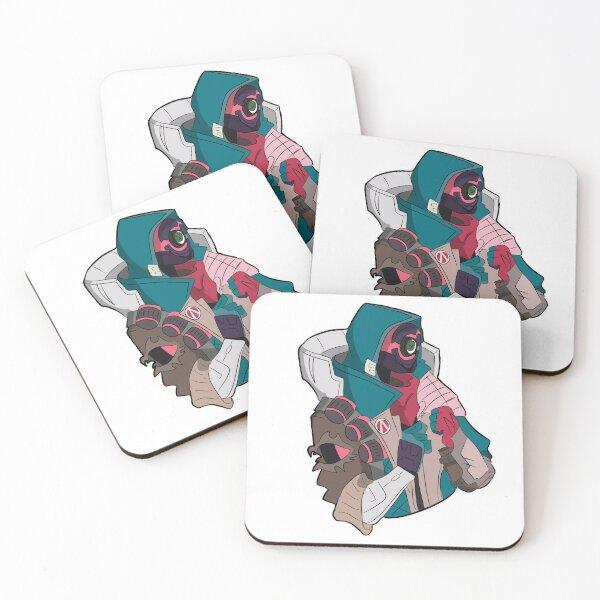 Fl4k vaporwave logo Coasters (Set of 4)