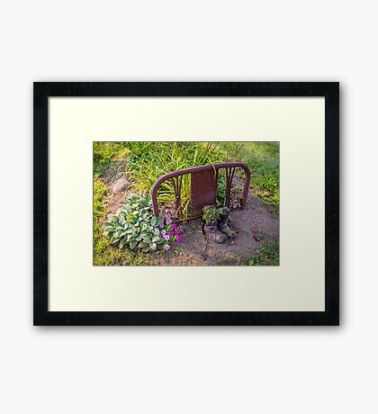 Boots At The End Of The Bed, Please Framed Print