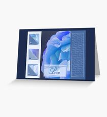 Happy Valentine's Day - Blue rose - card Greeting Card