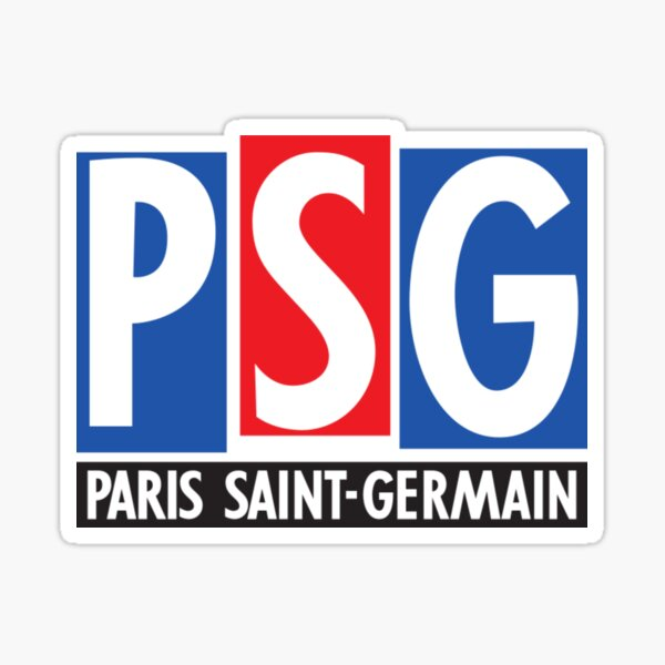 PSG Logo 1992-1996 Sticker