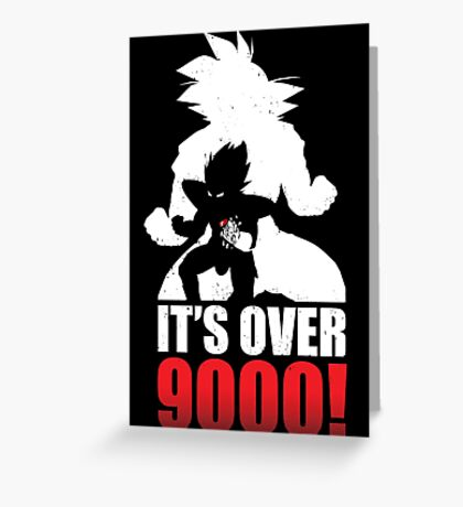 Over 9000 Greeting Card