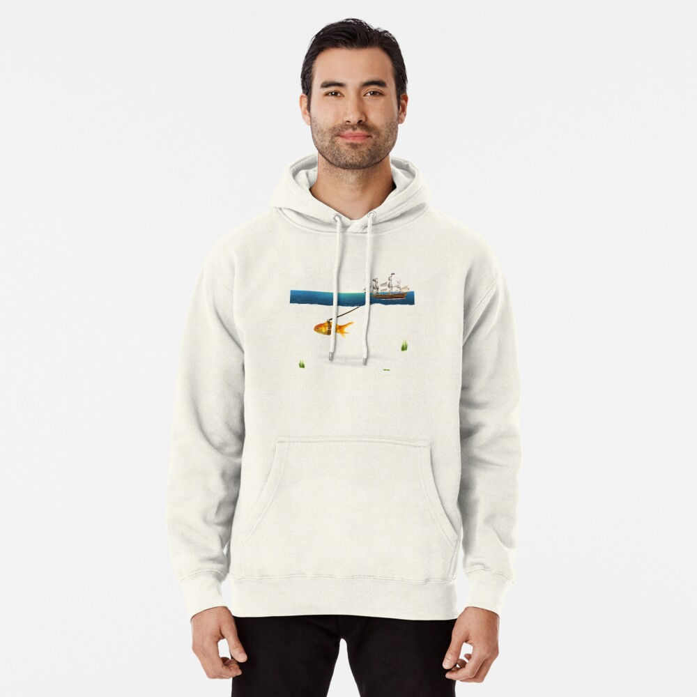 ON THE WAY  Pullover Hoodie Front