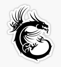 naga msi black Sticker