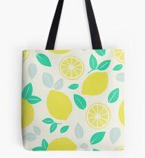Summer Lemon Pattern Tote Bag
