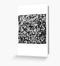 Scrambled Thoughts Greeting Card