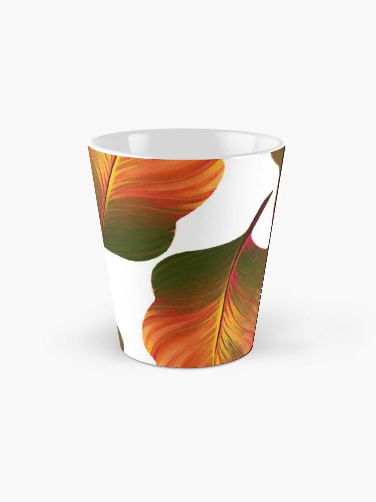 Alternate view of Tropical Leaves in Orange Mug