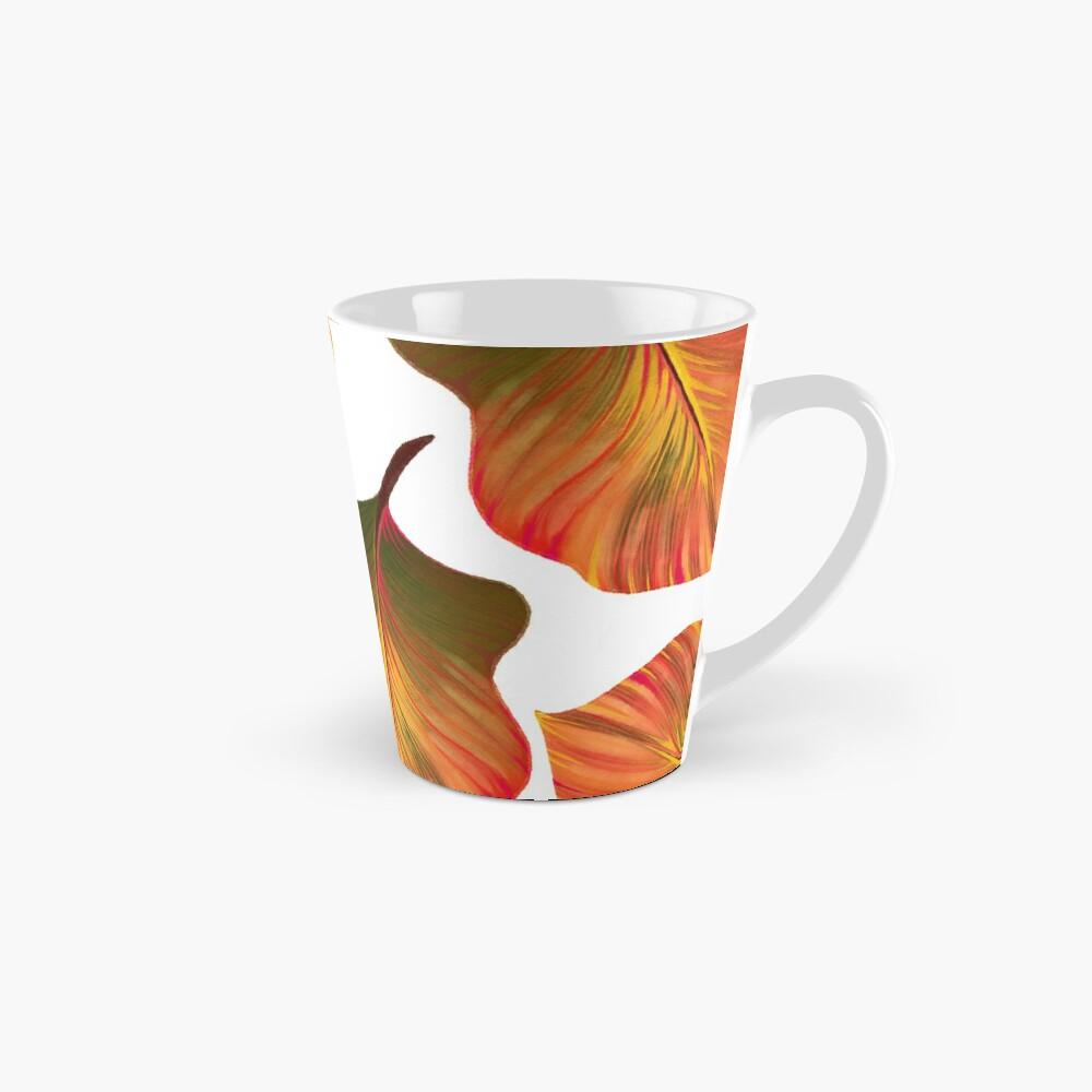 Tropical Leaves in Orange Mug