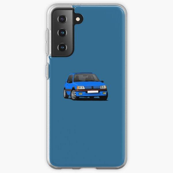 Blue Peugeot 205 GTi, illustration de virage Coque souple Samsung Galaxy