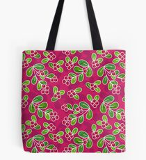 Cranberry Fruit Pattern on Fuchsia Tote Bag