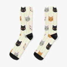 Kittens & Stripes Pattern Sock