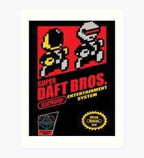 Super Daft Bros. Art Print