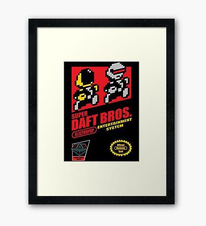 Super Daft Bros. Framed Print