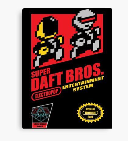 Super Daft Bros. Canvas Print