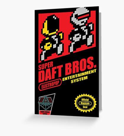 Super Daft Bros. Greeting Card
