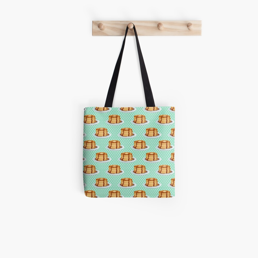 Pancakes with Maple Syrup Pattern Tote Bag