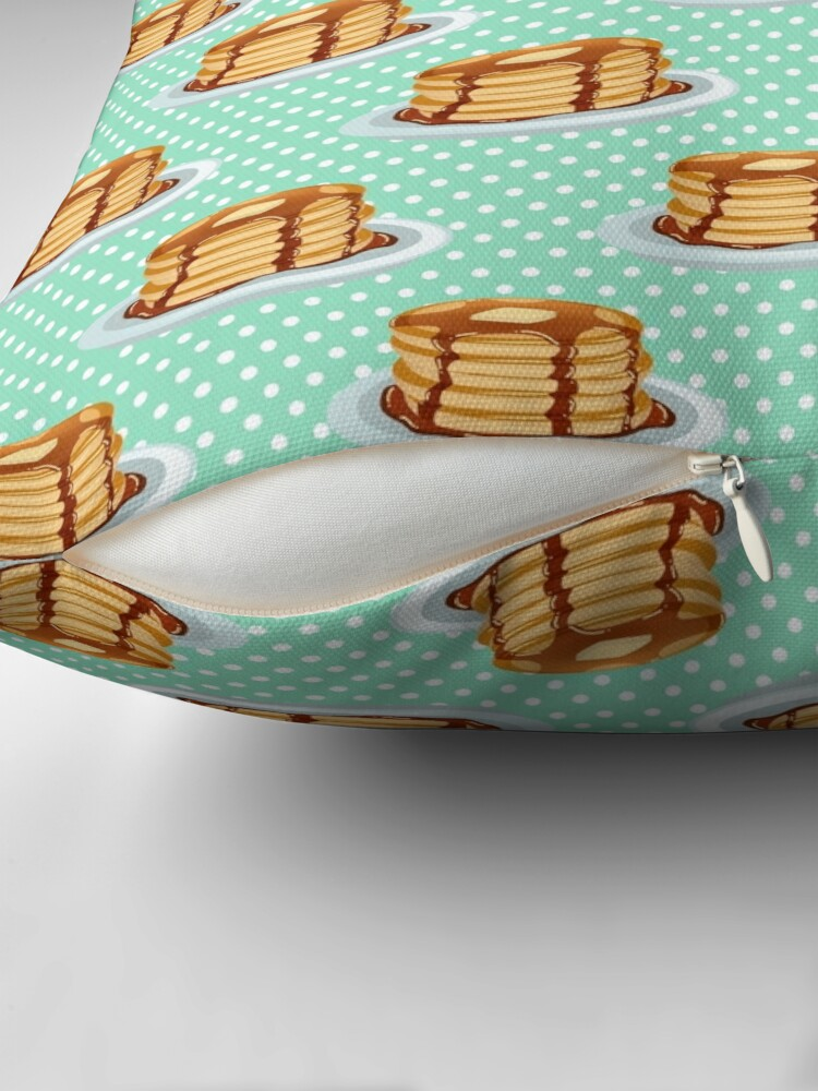 Alternate view of Pancakes with Maple Syrup Pattern Throw Pillow