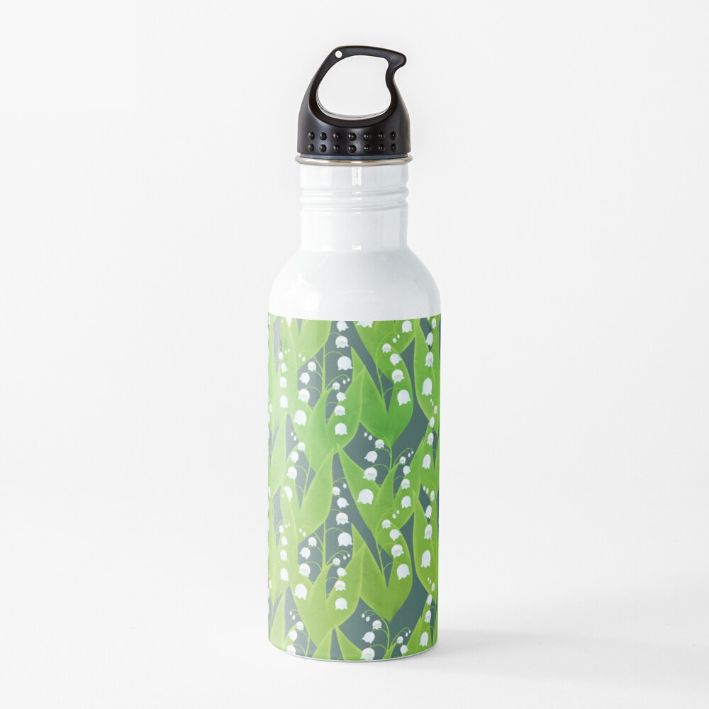 Lily of the Valley Floral Pattern Water Bottle
