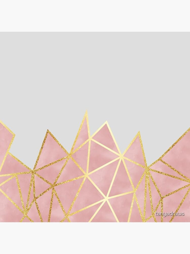 Pink Geometric & Gold by tanyadraws