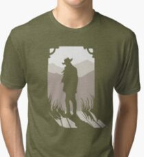 Old Western Silhouette Tri-blend T-Shirt