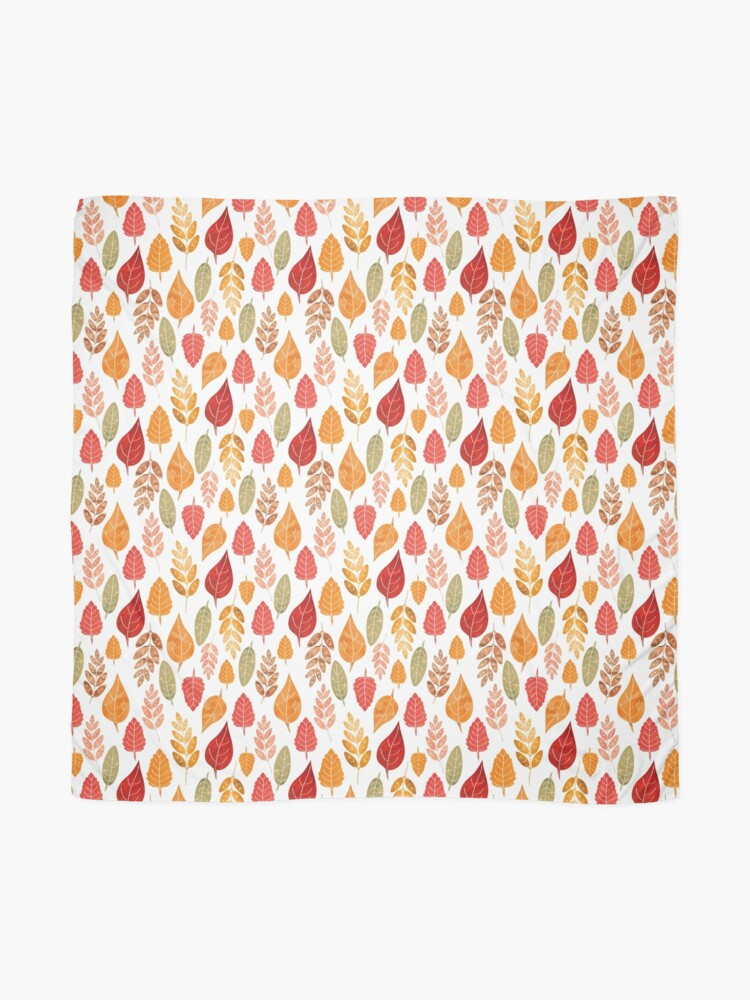 Alternate view of Painted Autumn Leaves Pattern Scarf