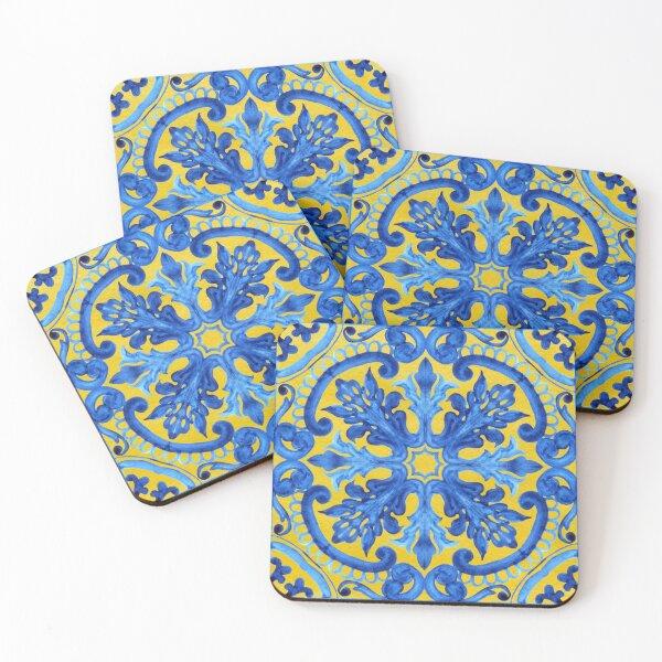 Portuguese azulejo tiles. Coasters (Set of 4)