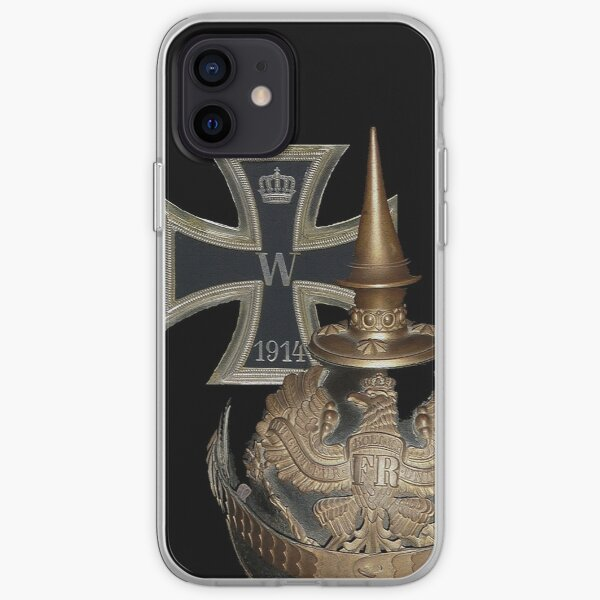 German WWI Icons.. 1914 Iron Cross and Helmet iPhone Soft Case