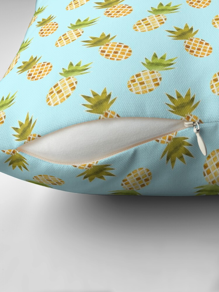 Alternate view of Watercolour Pineapples Pattern Floor Pillow