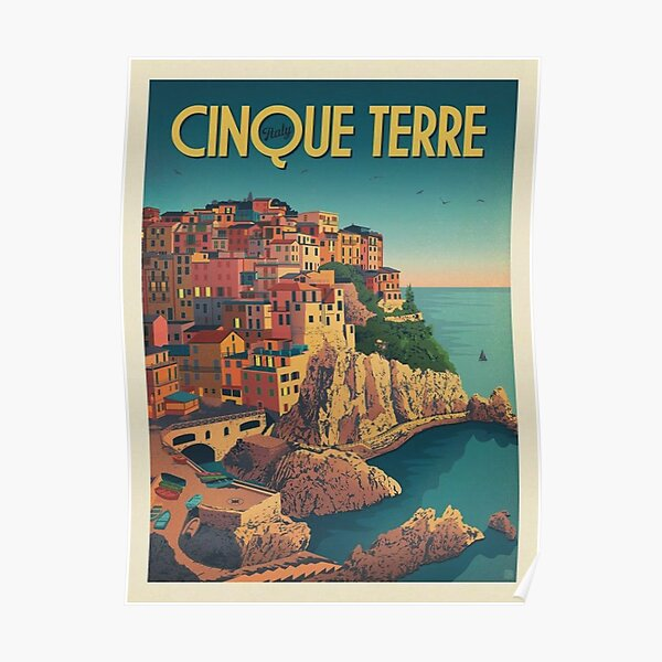 Cinque Terre Italy Framed Art Print Poster