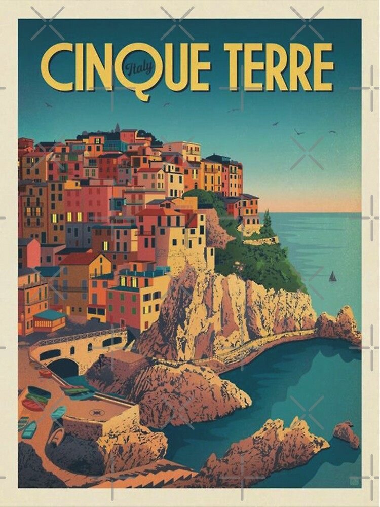 Cinque Terre Italy Framed Art Print by animateastory