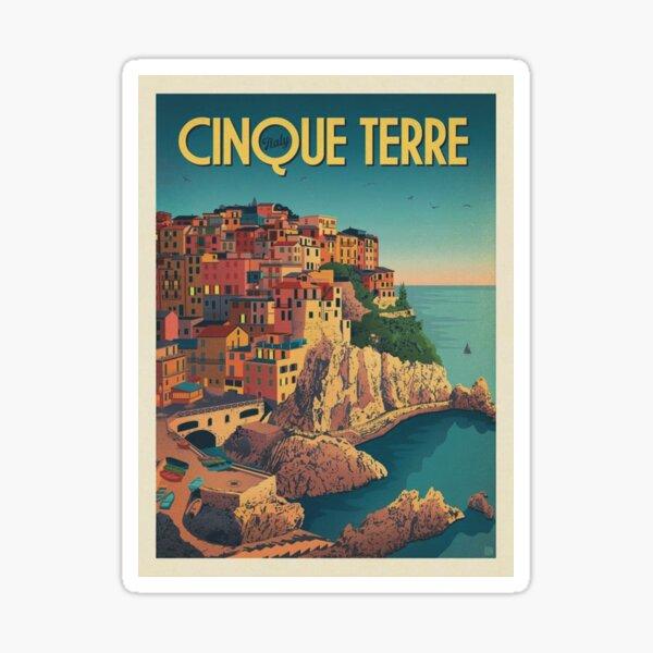 Cinque Terre Italy Framed Art Print Sticker