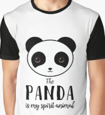 The panda is my spirit animal Type Illustration Graphic T-Shirt