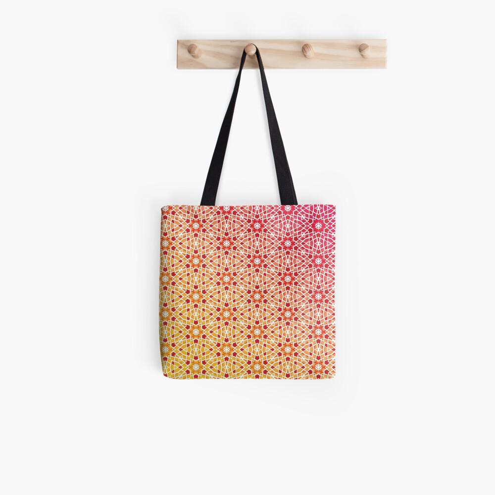 Gradient Tile Mosaic Pattern Tote Bag