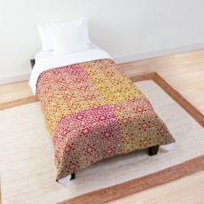 Gradient Tile Mosaic Pattern Comforter