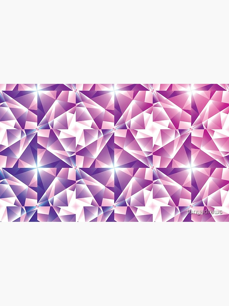 Purple Geometric Pinwheel Pattern by tanyadraws