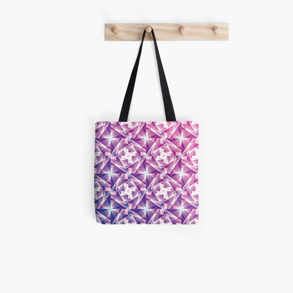 Purple Geometric Pinwheel Pattern Tote Bag